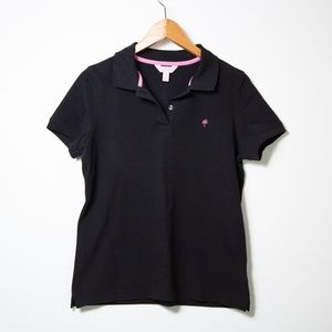 Lilly Pulitzer_ NWOT_Short Sleeve Black Polo_M